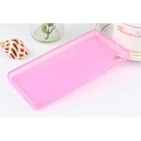 Силиконовый матовый полупрозрачный чехол для HTC Desire 626/628 Розовый