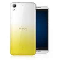 Силиконовый градиентный полупрозрачный чехол для HTC Desire 626/628 Желтый