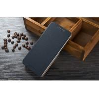 Текстурный чехол флип подставка на пластиковой основе для HTC Desire 626/628 Черный
