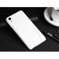 Пластиковый матовый металлик чехол для HTC Desire 626/628 Белый