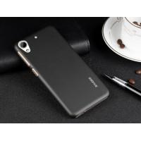 Пластиковый матовый металлик чехол для HTC Desire 626/628 Черный