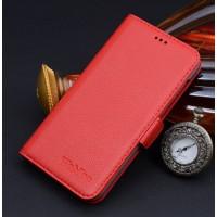 Кожаный чехол горизонтальная книжка (нат. кожа) подставка для HTC Desire 626/628 Красный