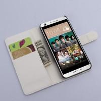 Чехол портмоне подставка с защелкой на пластиковой основе для HTC Desire 626/628 Белый