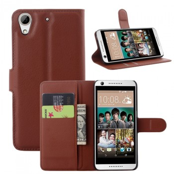 Чехол портмоне подставка с защелкой на пластиковой основе для HTC Desire 626/628