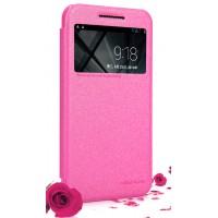Чехол флип с окном вызова для HTC Desire 616 Розовый