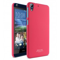 Пластиковый матовый чехол с повышенной шероховатостью для HTC Desire 626/628 Красный