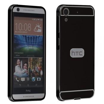 Двухкомпонентный чехол с металлическим бампером и поликарбонатной накладкой для HTC Desire 626/628