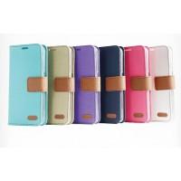 Текстурный чехол флип с дизайнерской застежкой для HTC Desire 626/628