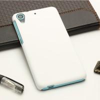 Пластиковый матовый непрозрачный чехол для HTC Desire 626/628 Белый