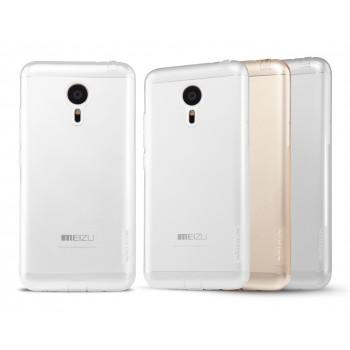 Силиконовый матовый полупрозрачный чехол повышенной защиты для Meizu MX5