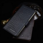Кожаный чехол портмоне подставка (нат. кожа крокодила) для Meizu MX5