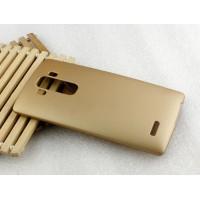 Пластиковый матовый непрозрачный чехол для LG G4 S Бежевый