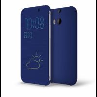 Точечный чехол смарт флип с функциями оповещения для HTC One M8 Синий