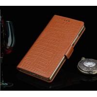 Кожаный чехол портмоне (нат. кожа крокодила) для LG G4 S