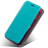 Чехол флип подставка водоотталкивающий для HTC Desire 616 Голубой