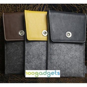 Универсальный дизайнерский чехол-мешок войлок/кожа для Meizu MX5