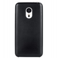 Кожаный чехол накладка для Meizu MX5 Черный