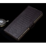Кожаный чехол портмоне (нат. кожа крокодила) для Sony Xperia C5 Ultra