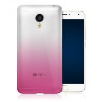 Силиконовый градиентный полупрозрачный чехол для Meizu MX5 Пурпурный