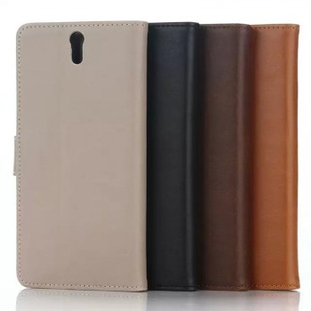 Чехол портмоне подставка с защелкой на пластиковой основе для Sony Xperia C5 Ultra Dual