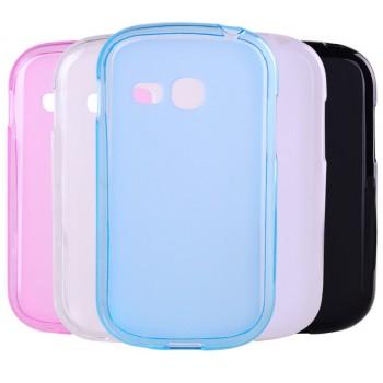 Силиконовый полупрозрачный чехол для Samsung Galaxy Fame Lite