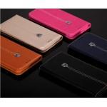 Кожаный прошитый чехол флип с отделением для карт для Samsung Galaxy S6 Edge Plus