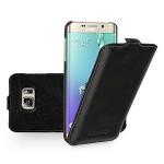 Кожаный чехол вертикальная книжка (нат. кожа) для Samsung Galaxy S6 Edge Plus