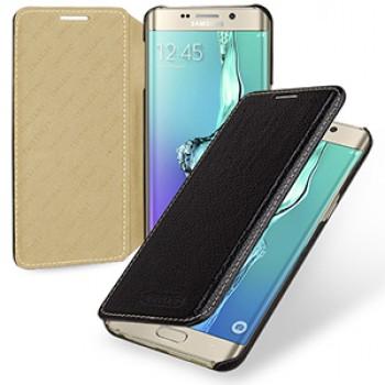 Кожаный чехол горизонтальная книжка (нат. кожа) для Samsung Galaxy S6 Edge Plus