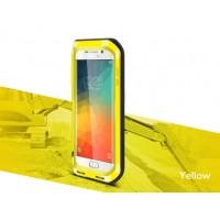 Ультрапротекторный пылевлагозащитный ударостойкий чехол металл/силикон/поликарбонат для Samsung Galaxy S6 Edge Plus Желтый