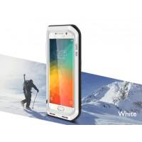 Ультрапротекторный пылевлагозащитный ударостойкий чехол металл/силикон/поликарбонат для Samsung Galaxy S6 Edge Plus Белый