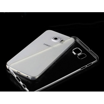 Силиконовый матовый транспарентный чехол для Samsung Galaxy S6 Edge Plus