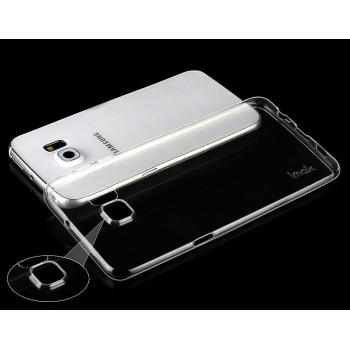 Силиконовый транспарентный чехол с доп. защитой камеры для Samsung Galaxy S6 Edge Plus