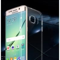 Силиконовый транспарентный чехол повышенной ударостойкости для Samsung Galaxy S6 Edge Plus