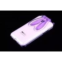 Силиконовый дизайнерский фигурный чехол со складными ушами для Meizu M1 Note Фиолетовый