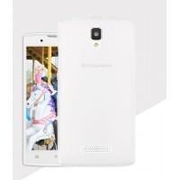 Силиконовый матовый полупрозрачный чехол для Lenovo A2010 Белый
