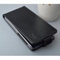 Чехол вертикальная книжка на пластиковой основе с магнитной застежкой для Explay Vega Черный