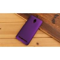 Пластиковый матовый металлик чехол для ASUS Zenfone Go Фиолетовый
