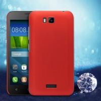 Пластиковый матовый металлик чехол для Huawei Y5c Красный