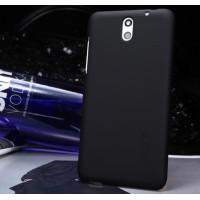 Пластиковый матовый премиум чехол для HTC Desire 610 Черный