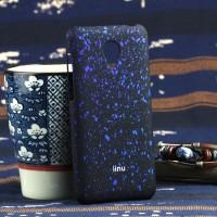 Пластиковый матовый непрозрачный чехол с голографическим принтом Звезды для Meizu M2 Mini Синий
