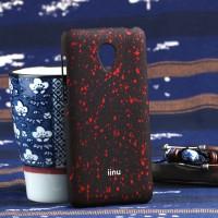Пластиковый матовый непрозрачный чехол с голографическим принтом Звезды для Meizu M2 Mini Красный