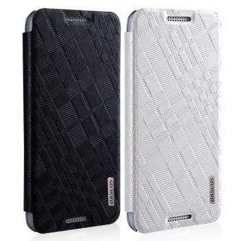 Текстурный чехол флип подставка серия BlackWhite для HTC Desire 610