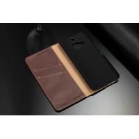 Кожаный чехол портмоне подставка с отделением для карт для HTC One M9+