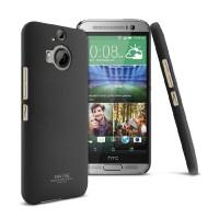 Пластиковый матовый чехол с повышенной шероховатостью для HTC One M9+ Черный