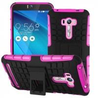 Силиконовый чехол экстрим защита для ASUS Zenfone Selfie Розовый
