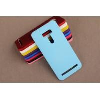 Пластиковый матовый непрозрачный чехол для ASUS Zenfone Selfie Голубой
