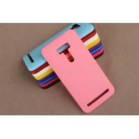 Пластиковый матовый непрозрачный чехол для ASUS Zenfone Selfie Розовый