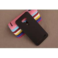 Пластиковый матовый непрозрачный чехол для ASUS Zenfone Selfie Черный
