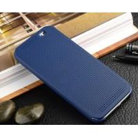 Точечный чехол смарт флип с функциями оповещения для HTC One M9+ Синий
