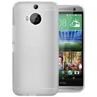 Силиконовый матовый полупрозрачный чехол для HTC One M9+ Белый